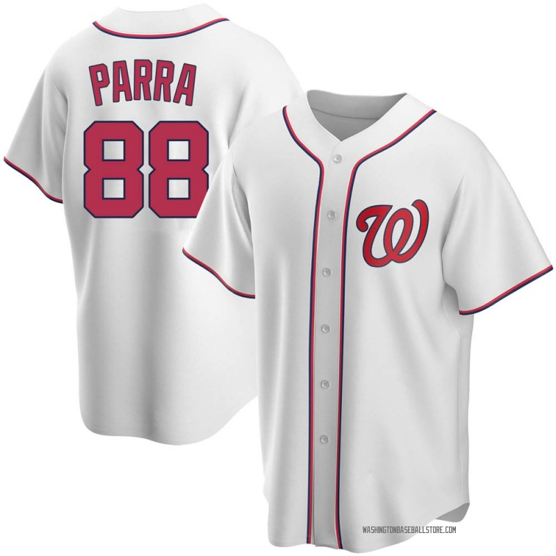 Gerardo Parra Men's Washington Nationals Home Jersey - White Replica